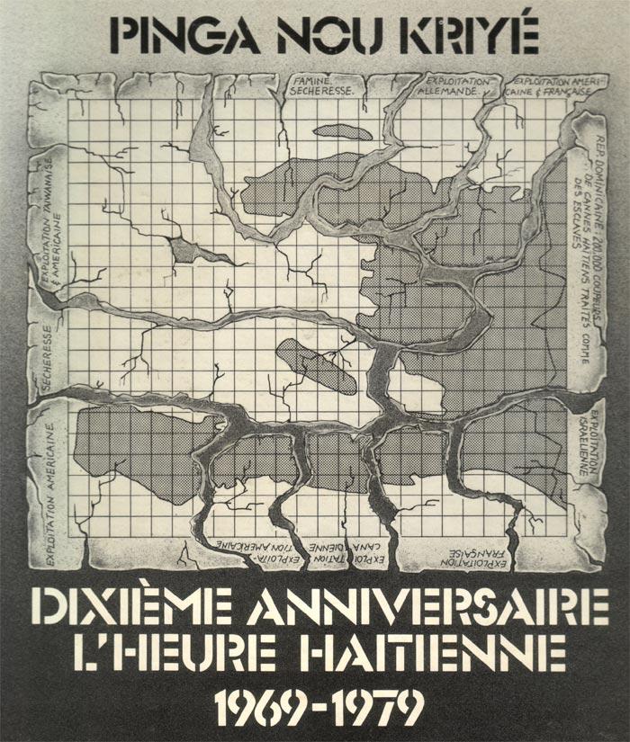 Pochette de l'album Pinga Nou Krié, Dixième anniversaire L'heure haïtienne 1969-1979